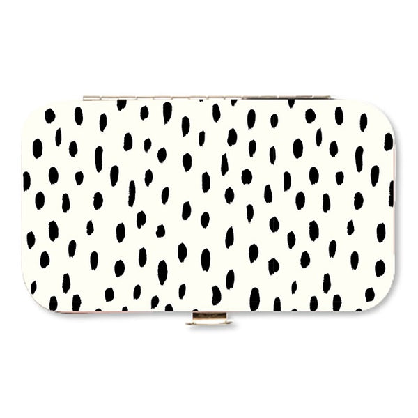 White and Black Spots Manicure Set