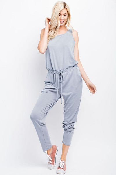 Silver Grey Tank Jumpsuit