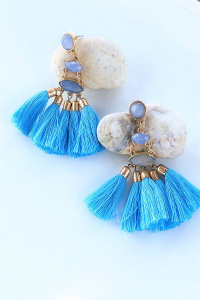 Turqs & Caicos Tassel Earrings