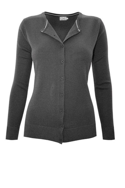 Charcoal Gray Button Up Sweater
