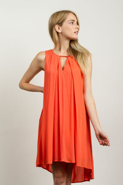 Coral Keyhole Dress