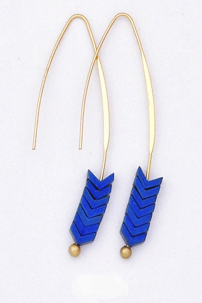 Vibrant Blue Slip Through Earrings