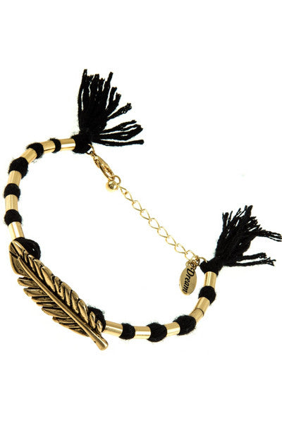 Black Gold Leaf Bracelet