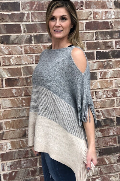 Ivory Luxe Poncho