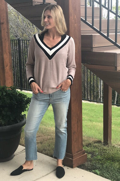 Mocha Tennis Sweater
