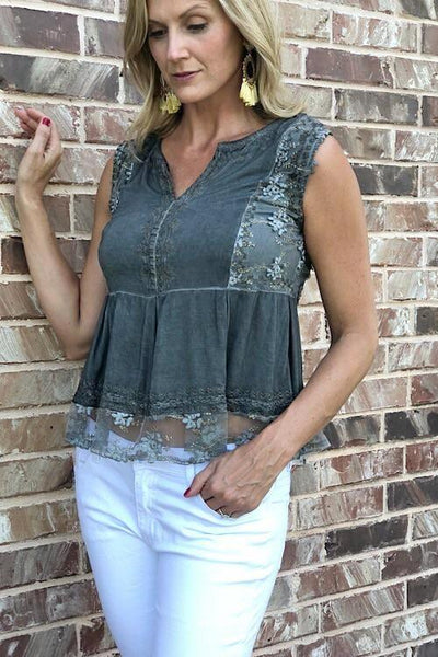 Bella Charcoal Top