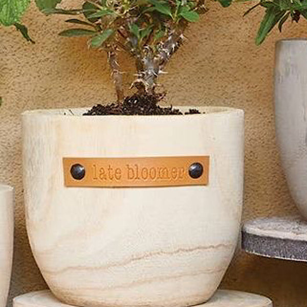 Late Bloomer Wooden Planter