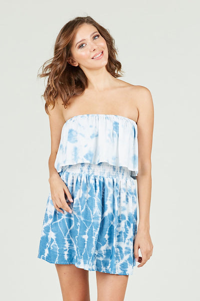 Baby Blue Tie Dye Dress