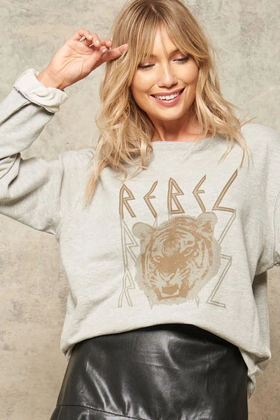 Rebel Tiger Graphic Sweatshirt