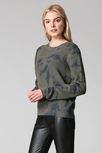 Distressed Army Tie Dye Sweater