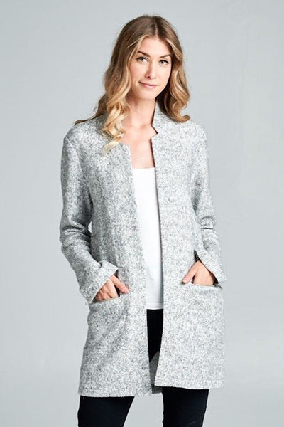 Salt and Pepper Collarless Jacket