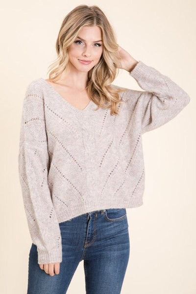 Oatmeal Blush Sweater