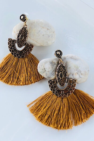 Aztec Fans Earrings