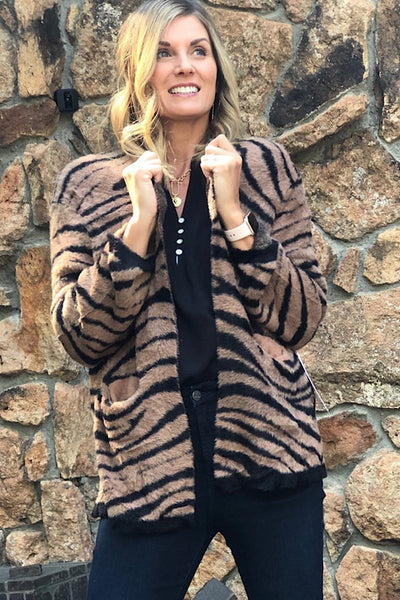 Jazlyn Desert Tigress Cardigan