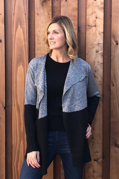Grey Area Drape Cardigan