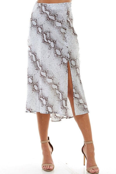 Powder Blue Snake Skirt