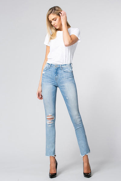 Raw Hem Straight Jean