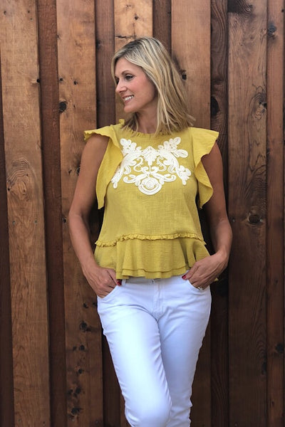 Chartreuse Lily Top