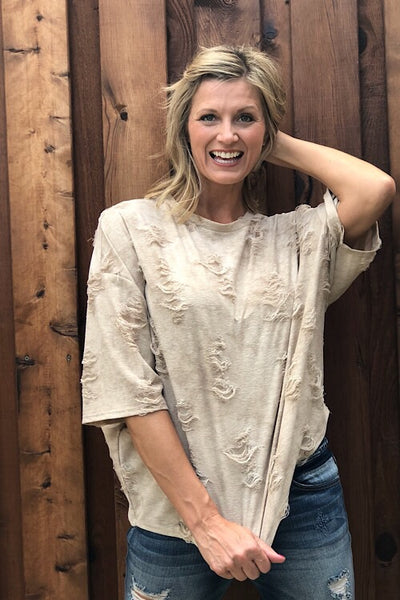 Laid Back Distressed Top