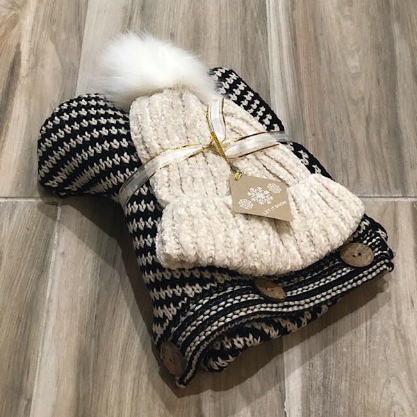 Lush Beanie and Scarf Gift Set