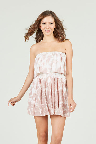 Mauve Tie Dye Dress