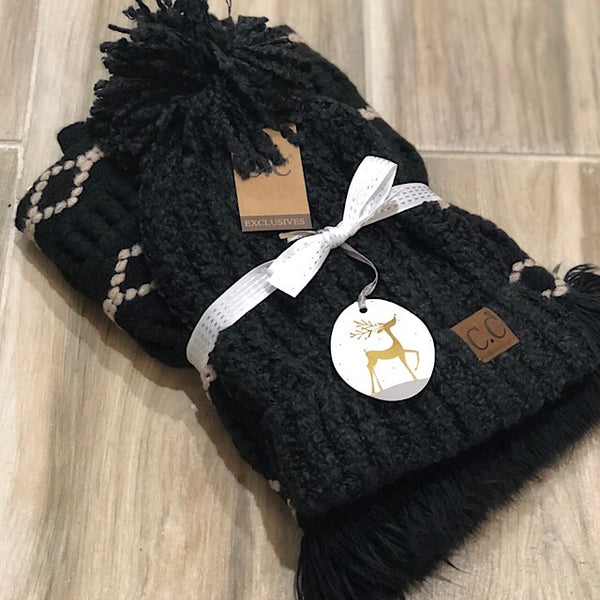 Lush Beanie and Infinity Scarf Gift Set