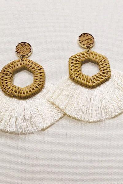 Snow Island Tassel Earrings