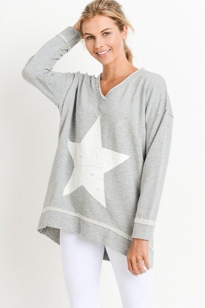 V-Neck Star Sweatshirt