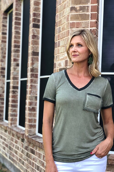 Antique Wash Olive Tee