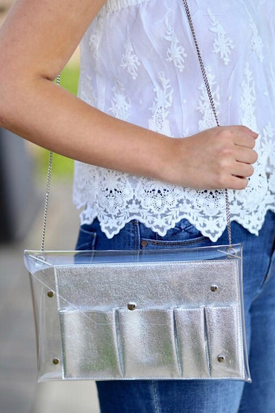 Game Day Silver Crossbody