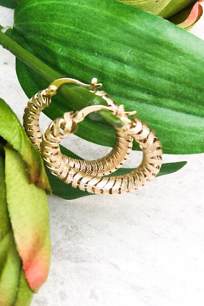 Cord Hoop Earrings