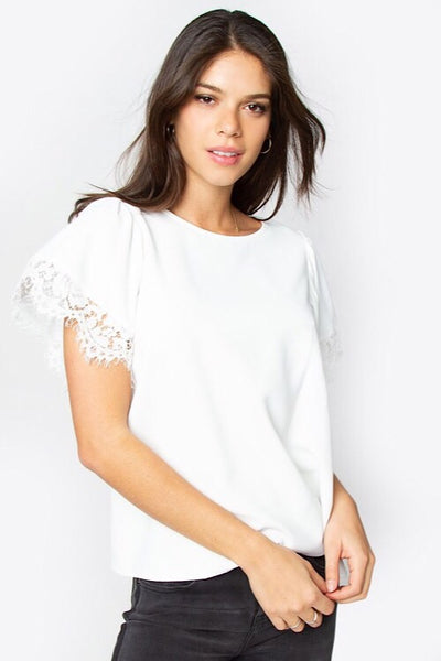 White Blushing Heart Top