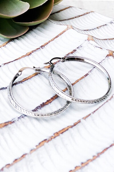 Simply Silver Hoop Earrings