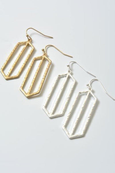 Silver Window Pane Earrings