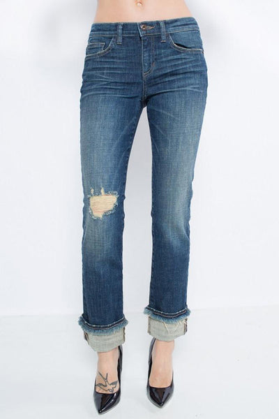Sneak Peek Raw Hem Boyfriend Jean