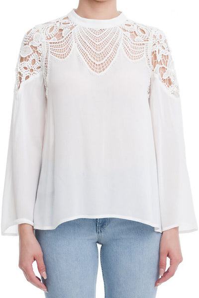 White Elegance Lace Top