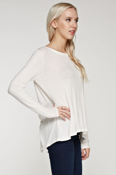 Slit Back Long Sleeve Sweatshirt