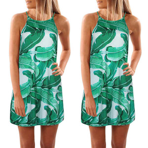 Palm Leaf Print Dress
