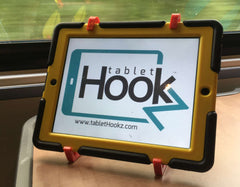 TabletHookz can be used as a secure traditional stand - great for those long train journeys or the daily commute