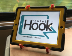 tablethookz v2.0 ipad holder on the train tablethookz.com