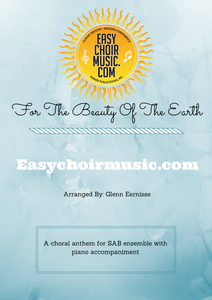 For The Beauty Of The Earth (SAB)
