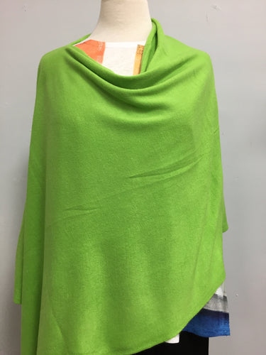 Poncho apple green lightweight acrylic
