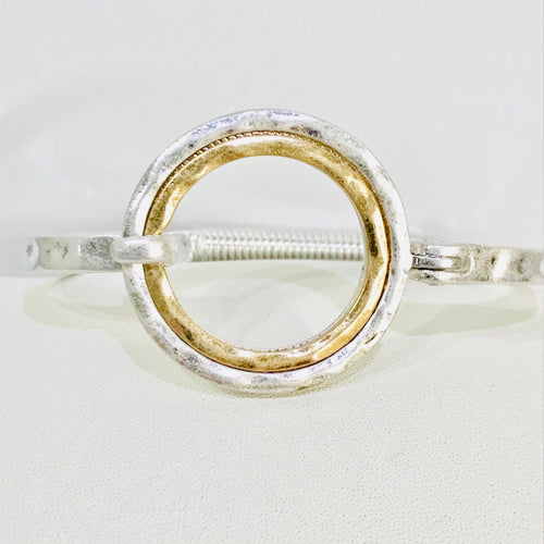 Artisan Jewelry Collection - Bracelet Silver/Gold Front Closure