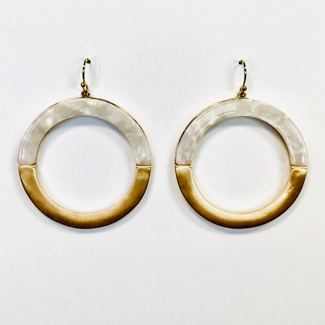 MEG Earrings OLY Opal/Gold
