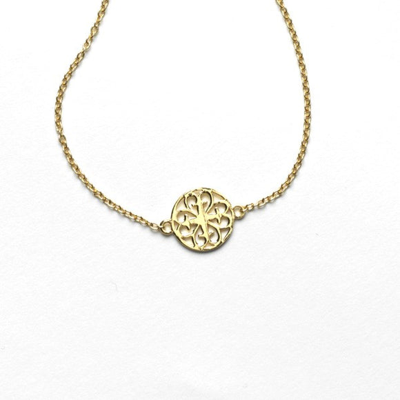 Gold Plated Inspiration Gate Charm Necklace