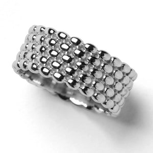 Rice Bead Ring 5 Stack - eastwindsonline.com