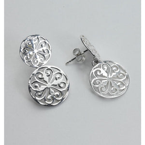Southern Gates Collection Inspiration Series Double Heart Scroll Post Earrings
