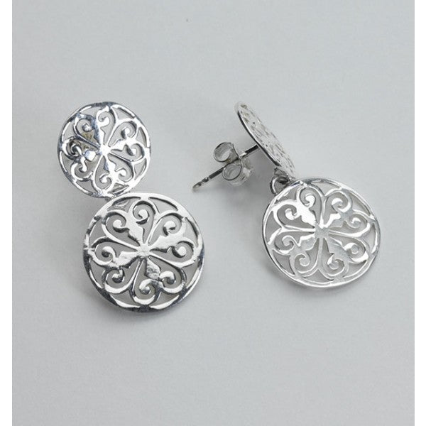 Inspiration Series Double Heart Scroll Post Earrings