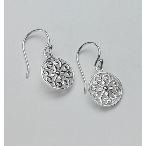 Southern Gates Collection Inspiration Series Round Heart Scroll Earrings