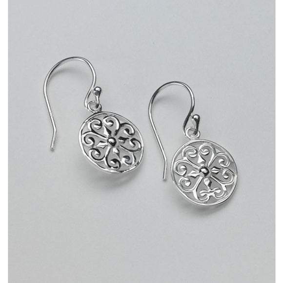 Inspiration Series Round Heart Scroll Earrings